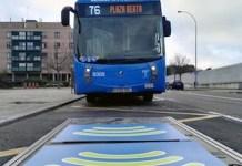 Madrid: punto de recarga por inducción para autobuses cero emisiones