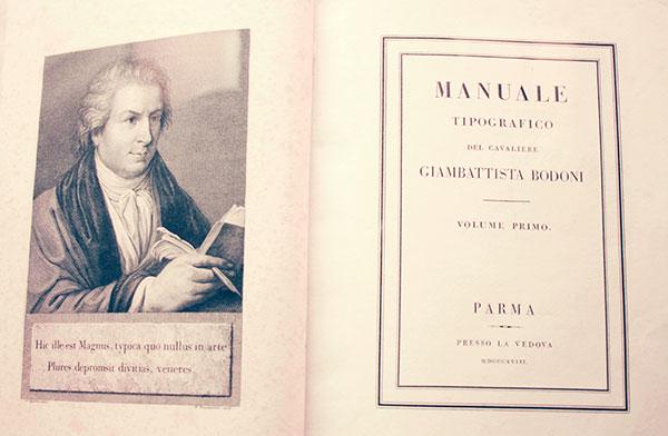 Portada y primera página del Manual Tipográfico