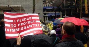 Marcha en Nueva York por los derechos de los inmigrantes (Imagen de Pressenza)