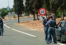Marruecos, control en una carretera