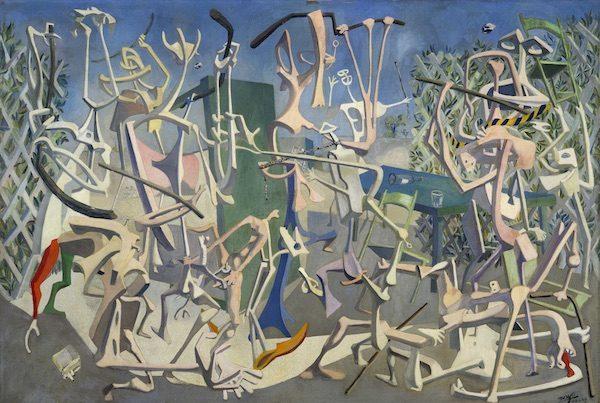 Mayo, Coups de bâtons (Bastonazos), 1937. Oleo sobre lienzo, 167 x 243 cm. Colección particular, Milán. Foto: Annunciata Galeria, Milán