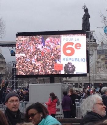 Marcha en París por la 6ª República, 18 de marzo de 2017.