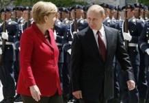 Mikel y Putin en un encuentro oficial