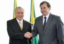 Michel Temer con Rodrigo Maia