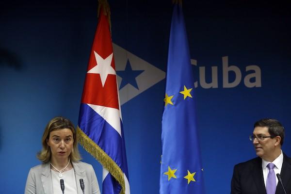 La alta representante de la UE para Asuntos Exteriores y Política de Seguridad , Federica Mogherini, y el canciller cubano, Bruno Rodríguez, durante su conferencia de prensa en la Habana, el 11 de marzo de 2016, durante la visita de diplomática italiana al país. Crédito: Jorge Luis Baños/IPS