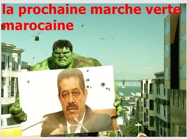 Montaje con una foto de Chabat, que anuncia una nueva 'marcha verde' marroquí.