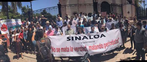 Protestas en Sinaloa, México, por el asesinato de periodistas