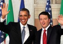 Barack Obama con Matteo Renzi en la visita del primer ministro italiano a EEUU, octubre de 2016