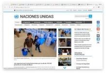Sitio web en español de la ONU