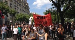 París, 23 de junio de 2016, manifestantes pacíficos contra la reforma laboral del gobierno de Manuel Valls