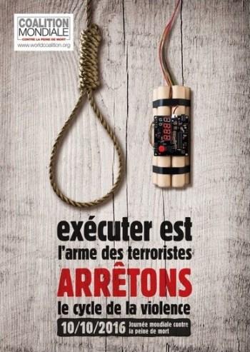 Pena de muerte: 10 de octubre, Día mundial por la abolición, cartel
