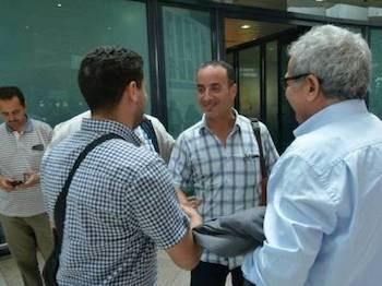 El periodista argelino Yamel Aliat a su llegada a Argel tras ser expulsado de Marruecos.