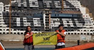 Greenpeace pide a Susana Díaz la demolición inmediatade El Algarrobico