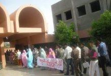 Una pasada protesta de estudiantes saharauis en la Universidad de Agadir