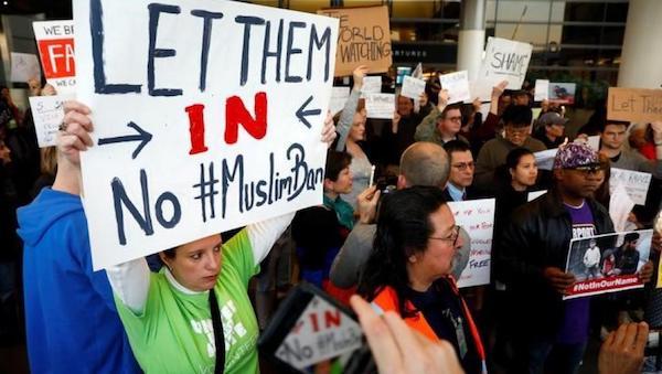protestas anti Trump musulmanes