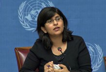 Ravina Shamdasani, portavoz del Alto Comisionado para los Derechos Humanos de la ONU