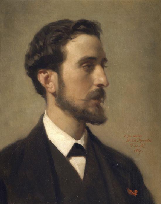 Federico de Madrazo. Retrato del pintor Eduardo Rosales.