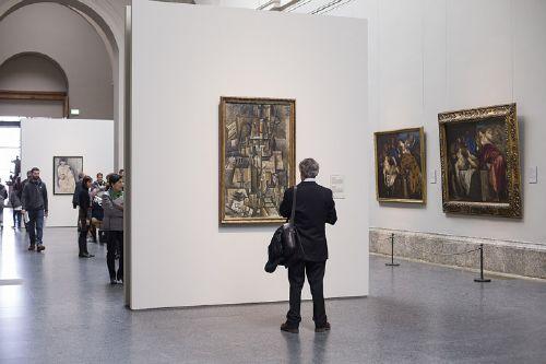 Picasso, el aficionado, 1912. Kunstm.Basel.