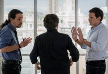 Albert Rivera y Pablo Iglesias en un programa de Jordi Evolé