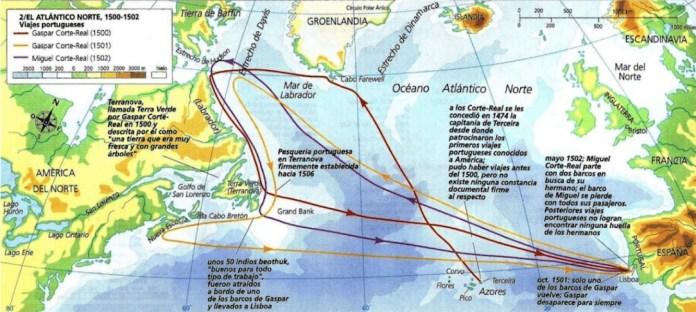 rutas marítimas portuguesas en 1500