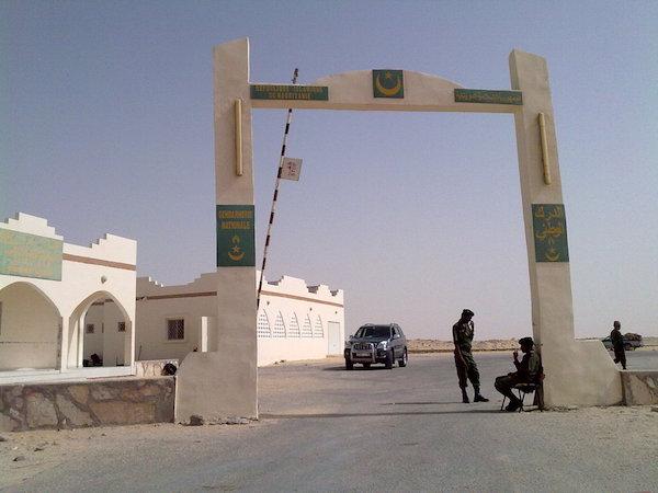 Puesto fronterizo de entrada a Mauritania desde el Sáhara