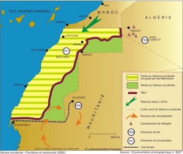 Mapa con la situación del territorio en 2002, en francés, muy parecida a la actual
