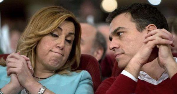 Susana Díaz con Pedro Sánchez en un acto político