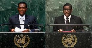 Teodoro y Teodorin Obiang en la sede de la ONU