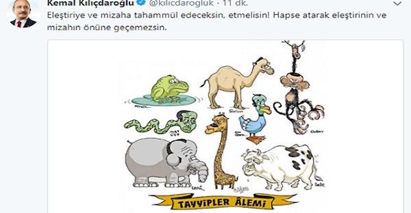 tuit de Kemal sobre Erdogan
