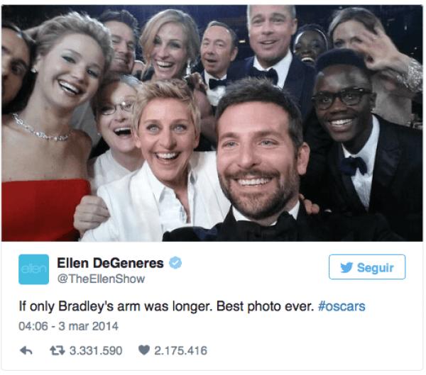 Twitter por Selfie Oscars