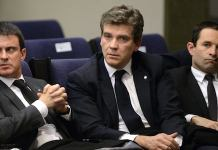 Manuel Valls, Arnaud Montebourg y Benoit Hamon