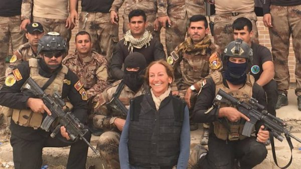 Véronique Robert, fotografiada por un colega en Irak