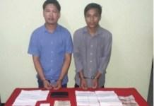 Periodistas birmanos Wa Lone y Kyaw Soe Oo esposados