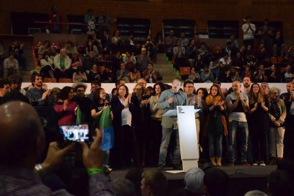 Xavier Domenech interviene ante el plenario de la asamblea constituyente de Un País en comun