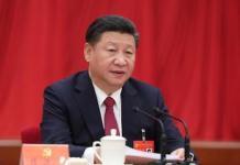 Xi Jinping preside la primera sesión plenaria del XIX Comité Central del Partido Comunista de China (PCCh), en el Gran Palacio del Pueblo en Beijing, capital de China. Foto; Xinhua / Liu Weibing