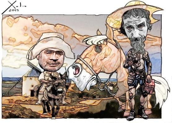 Xulio Formoso: Don Quijote y Sancho