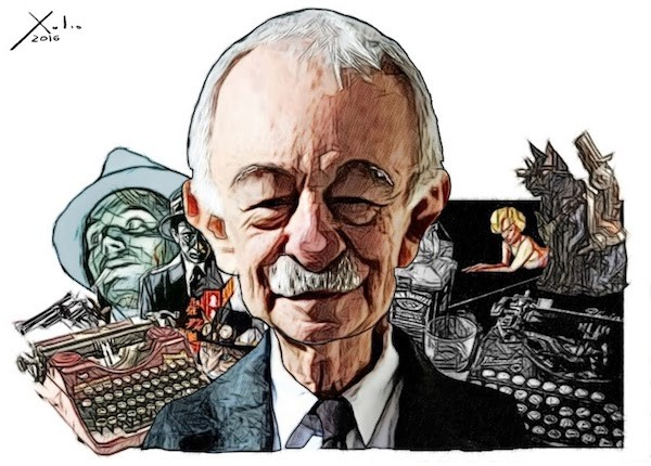 Eduardo Mendoza, dibujo de Xulio Formoso