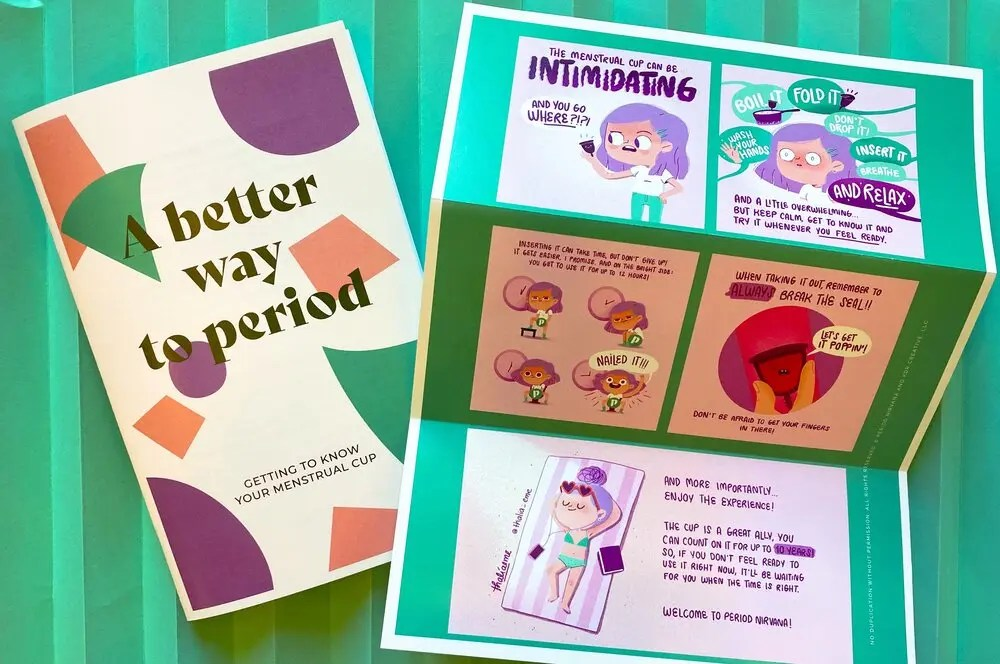 Menstrual cup comic and booklet for teens
