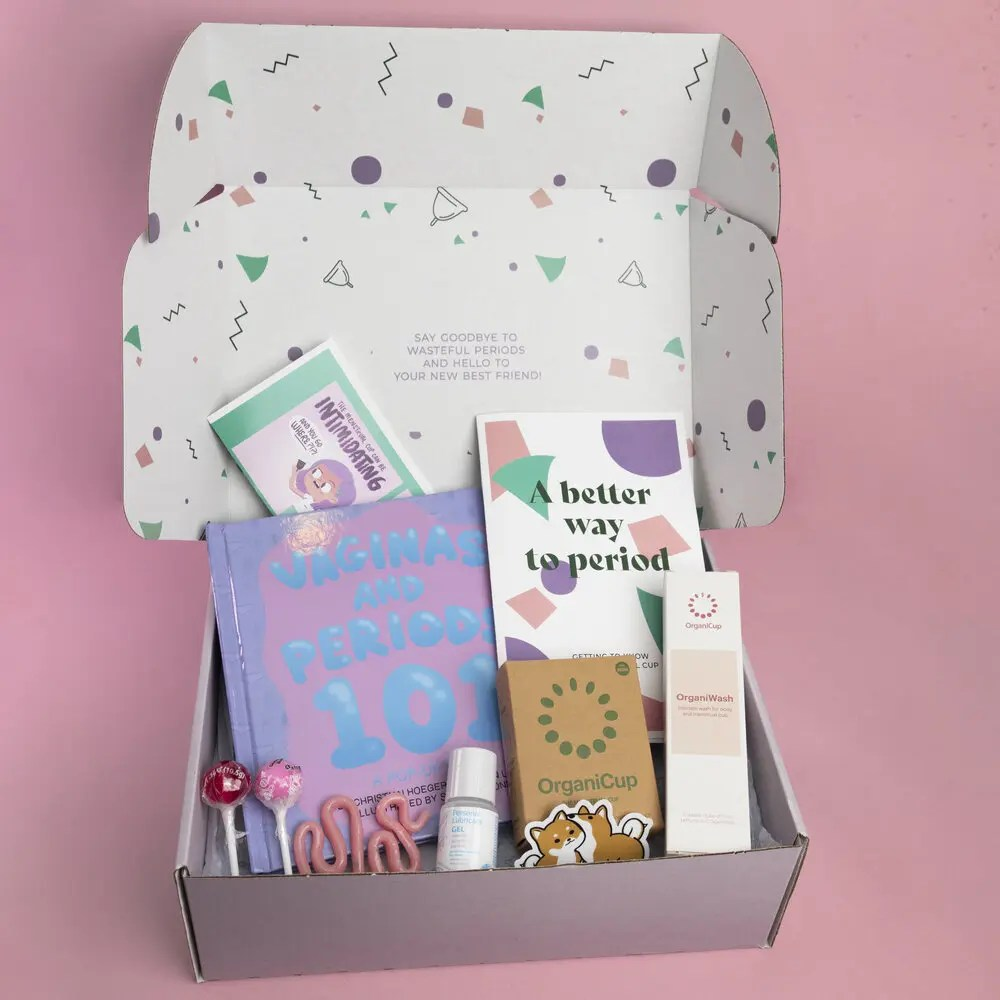 first period kit for teens with menstrual cup