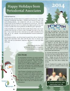 Periodontal Associates news letters