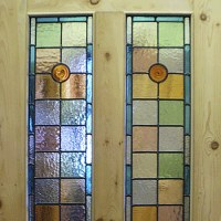 Victorian Front Doors - 4 Panel Door with Stained Glass ...