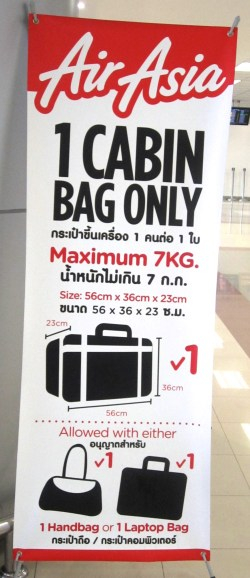 Air Asia Weight Restrictions Banner