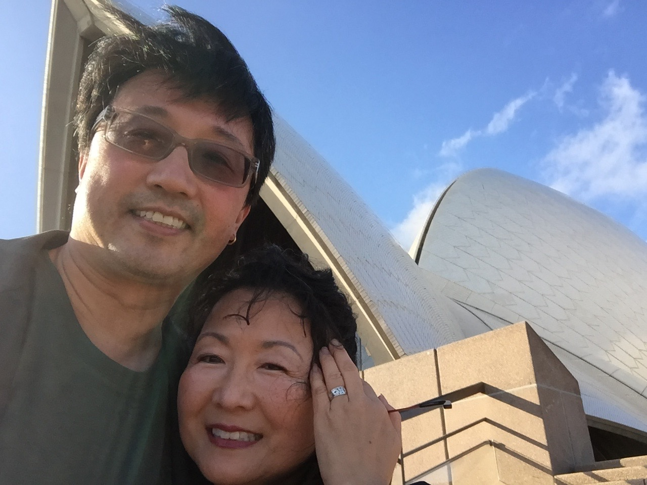 Windy day outside the Sydney Opera House