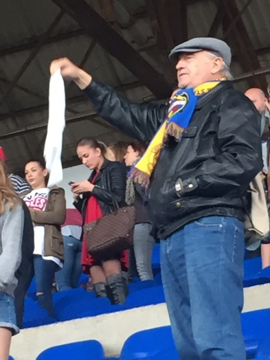 Whte hankies at the final whistle