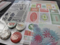 December Daily 2013 - stickers and stamps