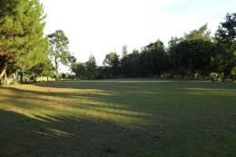 Tanah lapang di belakang rumah retreat
