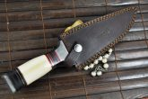 BIG SALE - HANDMADE DAMASCUS HUNTING KNIFE BOWIE KNIFE BONE & WOOD HANDLE