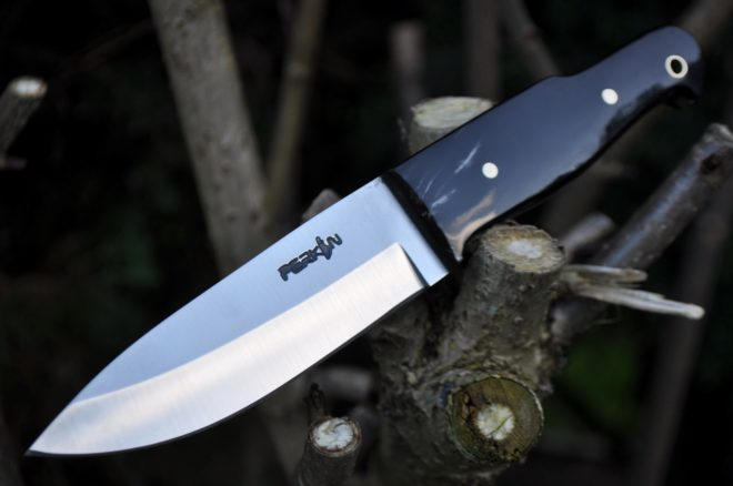 Bushcraft Knife with 01 Carbon Steel & Buffalo Horn Handle