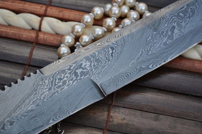 Custom Damascus Handcrafted Mini Sword - 15 Inches