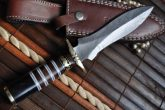 DAMASCUS HANCRAFTED UNIQUE DOUBLE EDGE HUNTING KNIFE